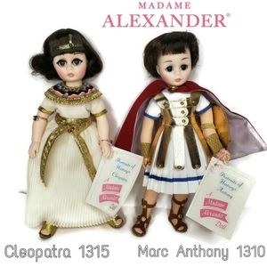 Madame Alexander Cleopatra and Marc Anthony dolls
